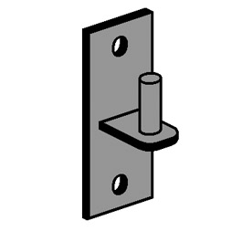 Male Wall Hinge 5/8""